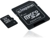 8GB Kingston microSDHC card with SD Adapter - ORIGINAL KINGSTON (Kingston: SDC4/8GBCR)