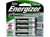 Energizer 4xAA 1.2V 2500mAh NiMH Rechargeable Battery (Energizer: NH15BP4)
