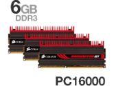 Corsair XMS3 Dominator GT TR3X6G2000C8GTF 6GB DDR3 3X2GB DDR3-2000 CL 8-8-8-24 Core i7 Memory W/ Fan (Corsair: TR3X6G2000C8GTF)