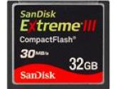 SanDisk Extreme III 32GB Compact Flash (CF) Flash Card (SANDISK: SDCFX3-032G-A31)