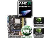 ASUS M2N68-AM SE2 Motherboard CPU Bundle - AMD Phenom X4 9550 2.20GHz OEM Processor, Geforce7025/nForce 630a, mATX Motherboard (Asus: ASUS M2N68-AM SE2 w/ AMD X4 9550 OEM CPU)