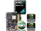 ASUS M2N68-AM SE2 Motherboard CPU Bundle - AMD Athlon X2 5000+ 2.60GHz OEM Processor, Geforce7025/nForce 630a, mATX Motherboard (Asus: ASUS M2N68-AM SE2 w/ AMD X2 5000+ OEM CPU)