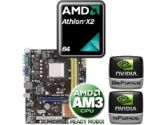 ASUS M2N68-AM SE2 Motherboard CPU Bundle - AMD Athlon X2 7550 2.50GHz OEM Processor, Geforce7025/nForce 630a, mATX Motherboard (Asus: ASUS M2N68-AM SE2 w/ AMD X2 7550 OEM CPU)