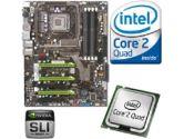 EVGA nForce 790i Ultra SLI Motherboard CPU Bundle - Intel Core 2 Quad Q6700 Processor 2.66GHz OEM, Socket 775, ATX Motherboard (EVGA: EVGA nForce 790i Ultra SLI Mobo w/ Intel Q6700 CPU)