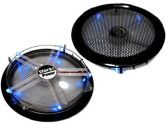 Works FN-250 250MM Black Silent Case Fan 820RPM 105CFM 20DB 4 Pin - Includes MESH Cover (Works: FN-250)