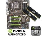 EVGA  nForce 790i Ultra SLI Motherboard RAM Bundle - OCZ SLI 2048MB PC16000 DDR3 2000MHz Memory, Intel Socket 775 ATX Motherboard (EVGA: EVGA nForce 790i Ultra SLI MB w/ 2GB OCZ DDR3-2000)