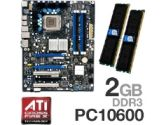 Intel DX48BT2 X48  Motherboard RAM Bundle - OCZ Extreme PC10600 2GB DDR3 1333MHz Memory , Intel X48, Socket 775, ATX Motherboard (Intel: Intel DX48BT2 X48 Mobo w/2GB PC10600 DDR3)