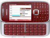 Nokia E75 Unlocked Cell Phone Red 3.2MP Camera 2.4IN Qvga Full Qwerty Keyboard GPS WiFi Bluetooth (NOKIA: E75 Red)