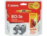 Canon BCI-3E Black Ink Cartridge Twin Pack (Canon: 4479A274)