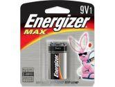 Energizer Max 9V Battery 1PK (Energizer: 522BP)