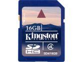 Kingston 16GB SDHC Class 4 Secure Digital Flash Memory Card (Kingston: SD4/16GBCR)