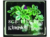 Kingston 8GB Elite Pro 133X CompactFlash Compact Flash CF Type I Flash Memory Card CF/8GB-S2 (Kingston: CF/8GB-S2CR)
