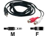 6 FT. PC TO STEREO CABLE 3.5MM M TO 2X RCA F (Startech Computer Products: MU1MFRCA)