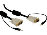 10FT DVI DUAL LINK CBL W/ DVI-D M/M 3.5MM M/M (Tripp Lite: P560-010-A)