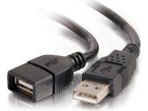 3M USB A/A EXT CBL BLK (Cables To Go: 52108)