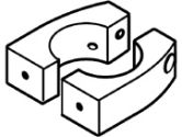 ERGOTRON SPLIT POLE MT BRACKET VESA (Ergotron, Inc: 60-423-003)