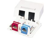 KEYSTONE SURFACE MOUNT BOX 2-PORT WHT (Cables To Go: 03833)