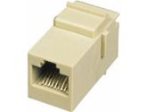 RJ12 6P6C KEYSTONE MODULAR INSERT COUPLER IVORY - Keystone Snap-in Module - Inse (Cables To Go: 03673)