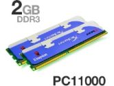 2GB 1375MHZ DDR3 NON ECC CL7 (Kingston Technology: KHX11000D3LLK2/2GX)