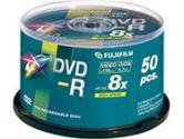 50PK DVD-R 4.7GB 8X THERM HUB PRINTABLE WHT SPINDL (Fuji Photo Film USA Inc: 393300)