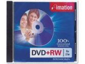 8X DVD+RW 4.7GB 1 PACK STD JEWEL (Imation Corp.: 17347)