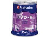 Verbatim DVD+R 4.7 GB 16x - cakebox - storage media (Verbatim Corporation, Inc: 95098-4X100PK)