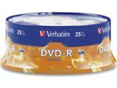 Verbatim DVD-R 4.7 GB 16x - spindle - storage media (Verbatim Corporation, Inc: 95058-4X25PK)