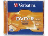 DVD-R 4.7GB 16X 50PK JEWEL CASE (Verbatim Corporation, Inc: 95051-50X1PK)