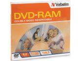Verbatim Disk, DVD-RAM, 9.4GB, R/W, doublesided, type 4, removable, 3X Speed (Verbatim Corporation, Inc: 95003-5X1PK)