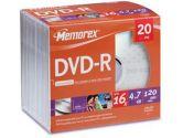 DVD-R 4.7GB 20PK SLIM (Imation Corp.: 32025707)