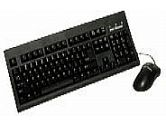KEYTRONIC KEYBOARD AND MOUSE TAG-A-LONG-P2 PS2 CABLE OPTICAL W L ENTER KEY BLACK (KeyTronicEMS CORPORATE: TAG-A-LONG-P2)