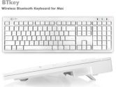 Macally BTKey - Keyboard - ice white (Mace Group, Inc.: BTKEY)