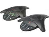 1 x Phone Line - 1 x RCA Phone Line, 1 x  Audio, 2 x  Microphone - Monochrome - Conference Phone (Polycom Inc.: 2200-16555-001)