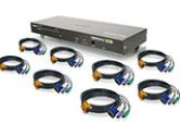 8PORT COMBO VGA KVMP SWITCH WITH PS/2 CABLES (IOGEAR, Inc: GCS1808KITP)