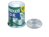 Maxell 100PK CDR 48x 700MB 80Min CD-R700 Spindle (Maxell: 648200)