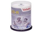Verbatim 700MB 52X CD-R 100 Packs Cake Box Disc (Verbatim: 94712)