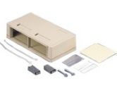 SNAP-IN SURFACE MOUNT BOX 4-PORT WHITE (Cables To Go: 03843)