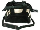 TECHNICIANS TOTEBAG WITH CARRY STRAP - Color:  Green and Tan (Cables To Go: 27382)