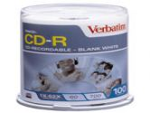 Verbatim 700MB 52X CD-R 100 Packs Cake Box Disc (Verbatim: 94554)