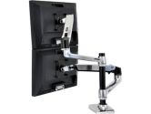 ERGOTRON 45-248-026 LX Dual Stacking Arm Desk Mount - Extends LCDs or laptop up to 25 (Ergotron: 45-248-026)