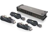 IOGEAR 4 Port DVI KVMP Switch Audio Microphone USB with Cables (IOGEAR: GCS1104)