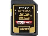 PNY P-SDHC4G4X2-EF Optima Class 4 SDHC Flash Memory Card - 4GB, 2-Pack (PNY: P-SDHC4G4X2-EF)