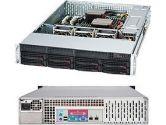 Supermicro CASE CSE-825TQ-563LPB 2U 560W BLACK 8X3.5SAS SATA SLIM DVD RETAIL (Supermicro: CSE-825TQ-563LPB)