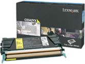 Lexmark High Capacity Yellow Toner Cartridge - Laser - 7000 Page - Yellow (Lexmark: C5342YX)