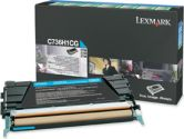 Lexmark Cyan High Yield Return Program Toner Cartridge - Laser - 10000 Page - Cyan (Lexmark: C736H1CG)