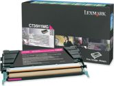 Lexmark Magenta High Yield Return Program Toner Cartridge - Laser - 10000 Page - Magenta (Lexmark: C736H1MG)