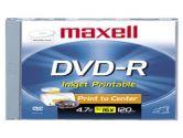 MAXELL CANADA  DVD-R 4.7G PRINTABLE WHITE 50PK (Maxell: 638022)