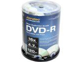Aleratec 230118 Silver DVD-R Spindle - 100 Pack, 16X, Duplicator Grade (Aleratec: 230118)