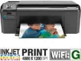 HP C4780 11995L Photosmart All-In-One Color Inkjet Printer - 4800 x 1200 Optimized dpi, 29 ppm Mono, 23 ppm Color, USB, 64 MB, Wi-Fi (HP: 11995L)