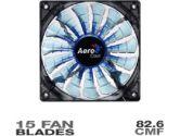 Aerocool Shark 120mm Blue Edition Fan - 82.6CFM, 2 Modes, 15 Fan Blades, Blue LED (AeroCool: Shark 120mm Blue)